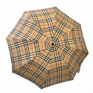 Burberry Plaid Compact Umbrella with Pouch